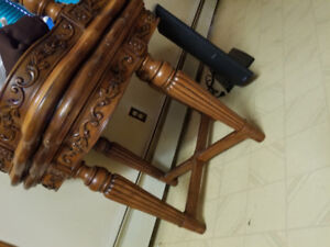 2 solid wood decorative tables  6/10 condition 200 obo