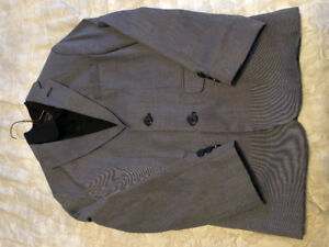 Boys black textured suit jacket and long sleeved shirt.  Size 12