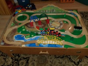 Imaginarium Train Table with Wood Tracks & Thomas Trains