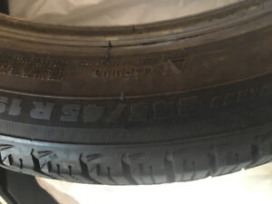 """A set of 4 Michelin winter tires """"245/45 R19"""" Excellent state!!"""