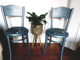 Pair of upcycled Bentwood chairs