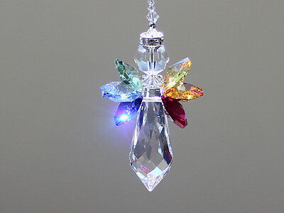 Rainbow Angel Crystal Suncatcher with Beautiful Swarovski Crystals and Prism