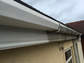 Upvc Guttering & fascias cleaned thoroughly by hand / fencing