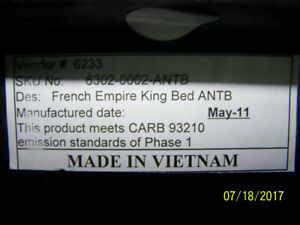 French Empire King Bed ANTB