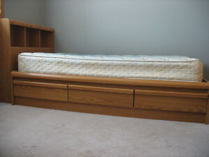Twin Bed, Dresser and Nightstand