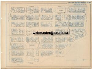Six Street and Lot Maps of 1917 Halifax, prior to the Explosion
