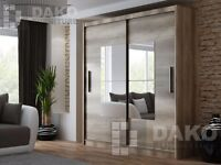 Sliding Door Wardrobe BOSTON Country Grey