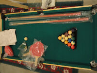 POOL PING PONG DARTS BASKETBALL - NEW 4 IN 1 GAME TABLE FOR KIDS