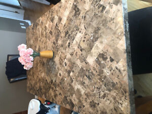 Wood/Marble Dining Table