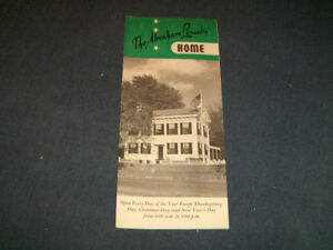 THE ABRAHAM LINCOLN HOME-1950/60S TOURIST BROCHURE-ILLINOIS