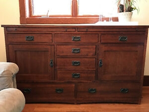 Mission style sideboard, Mennonite made
