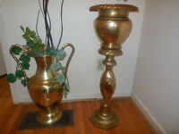 Ancient indian temple theme rare very tall antique brass vase