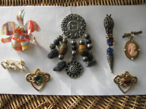 Broches VINTAGE '80-'90 différents styles BROOCH