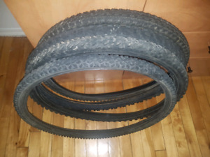 For sale bicycle mountain tires 26""