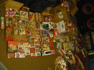 huge bunch of vintage christmas ornaments/decorations--SOLD PEND