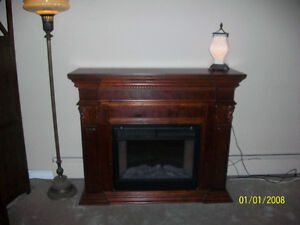 Fireplace Mantle & Insert - Coleman