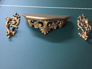 Decorative Wall Shelf and Candle Holder