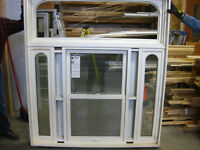 Fenetre Guillotine/Fixe Pin. - Double-Hung/Fixed Wood Window