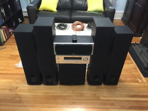Polk 5.1 Surround system with all cables/speaker wire