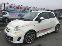 ABARTH 500 1.4 T-JET 135 3DR WHITE **NOVITEC EXHAUST **INTERSCOPE SOUND **BUCKET