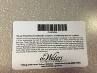 The Waters SPA $100 Gift certificate
