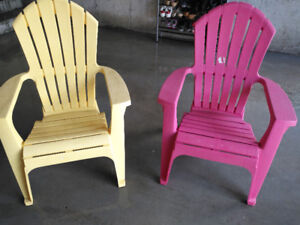 pink and yellow outside seat furniture