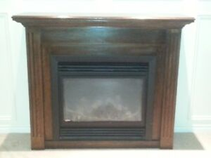 Oak Fireplace Surround with Mantle