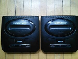 2 Genesis with 3 controllers and 16 games (include the punisher)