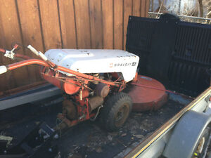 Gravely tractor with bush hog