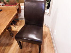 Brown parson chairs set of 6