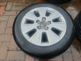 Audi a3 alloys with new tyres