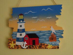 Set of 2 wooden decorative hanging panels seaport theme London Ontario image 5