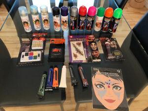 Maquillage et couleur teinture pour cheveux Halloween ( costume)