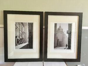 Two grayscale photographs