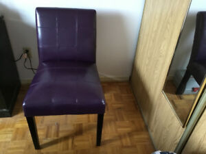 New Purple Cushioned Accent Chair