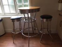 Bistro table and 2x stools