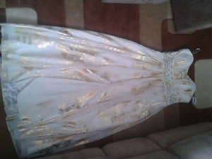 Gold and White prom/grad dress!