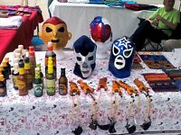 WRESTLING MASKS from MEXICO in Belleville Farmers Market