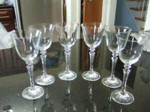 set of 6 new condition elegance of Mikasa Crystal's wine glass