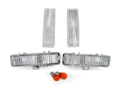 COMBO Clear Front Corner+Bumper Signal Lights for 83-94 Chevy Blazer & 82-93 S10