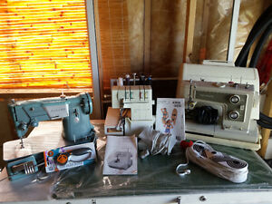 Serger, 2 sewing machines, etc