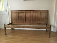 Antique oak settle - seat/ bench