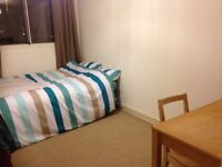 Spacious double room to rent to a female sharing a 2 bedroom flat with 1 tidy friendly housemate