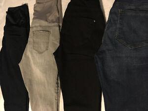 4 paires de jeans maternité à vendre - négociable