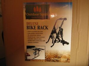 outdoor spirit deluxe bike rack. 100%brand new. firm.