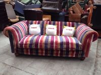 Tetrad 'Sutton' Sofa or Chair in College Stripe Chenille WANTED