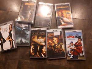 Various umd movies for psp