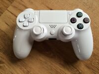 White gloss custom official Sony PS4 Wireless Controller Pad