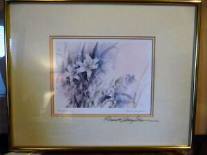 """Wildflower Lithograph, Signed by Brent Heighton """"Spring Lilies"""" Stratford Kitchener Area image 1"""
