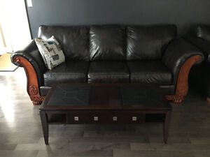Furniture, Living room set couch buffet and coffee table